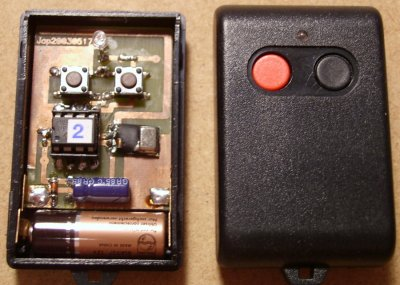 Infra/radio remote control encoder/decoder with PIC