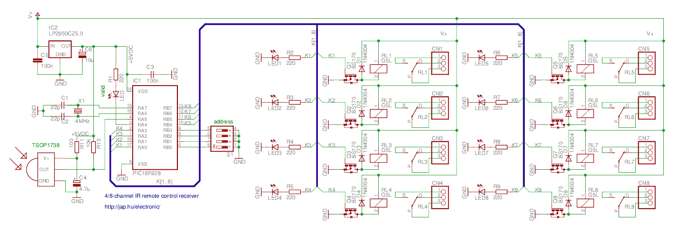 Zoom The Picture Infrared Remote Control Receiver Schematic: 4 Channel Momentary Remote Wiring Diagram At Eklablog.co