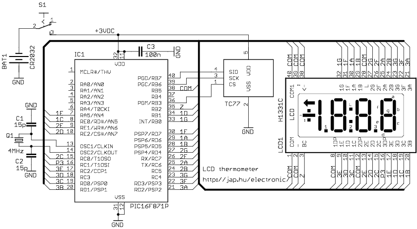 lcd thermometer rh jap hu digital thermometer schematic diagram Instant-Read Digital Thermometer